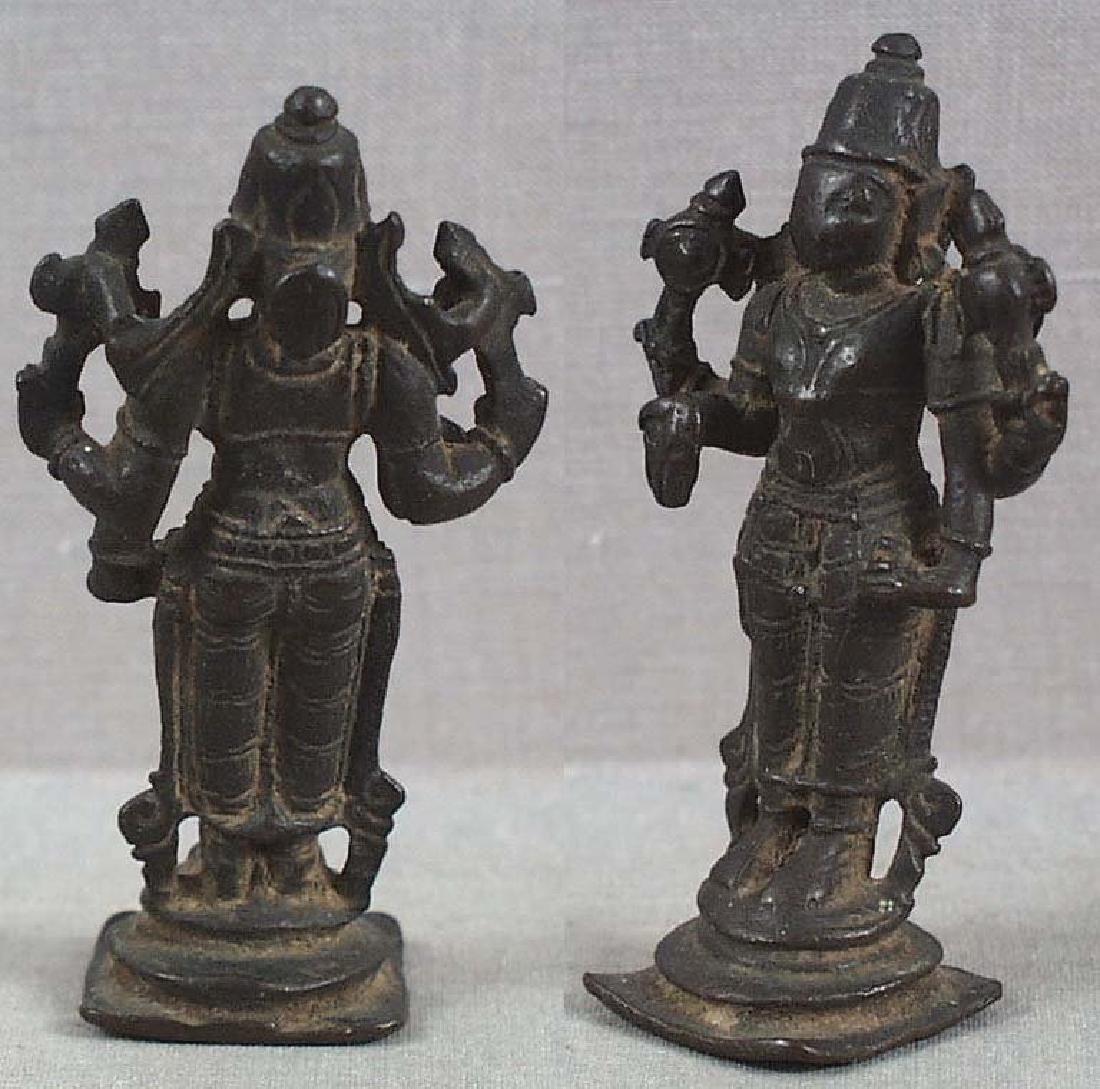 Indian Bronze Votive Statue Vishnu, 18th C - 3