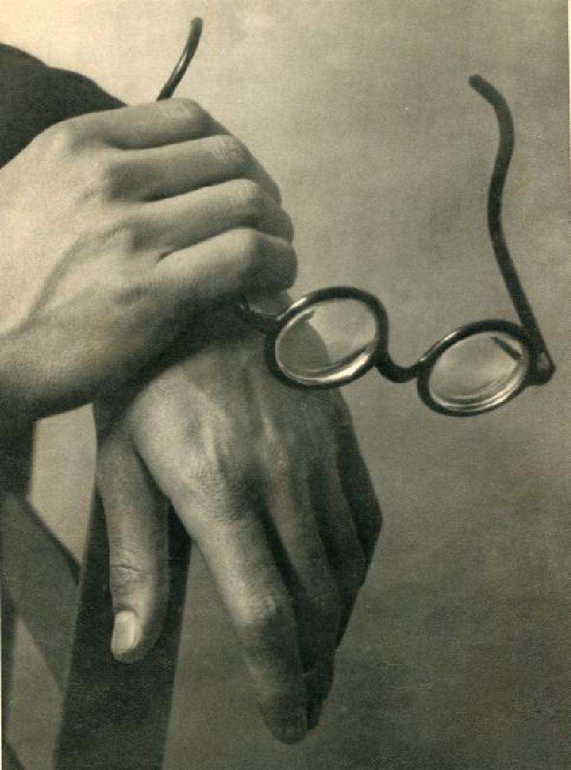 ANDRE KERTESZ - Mondrian's Hands W/ Glasses, 1926 Paris