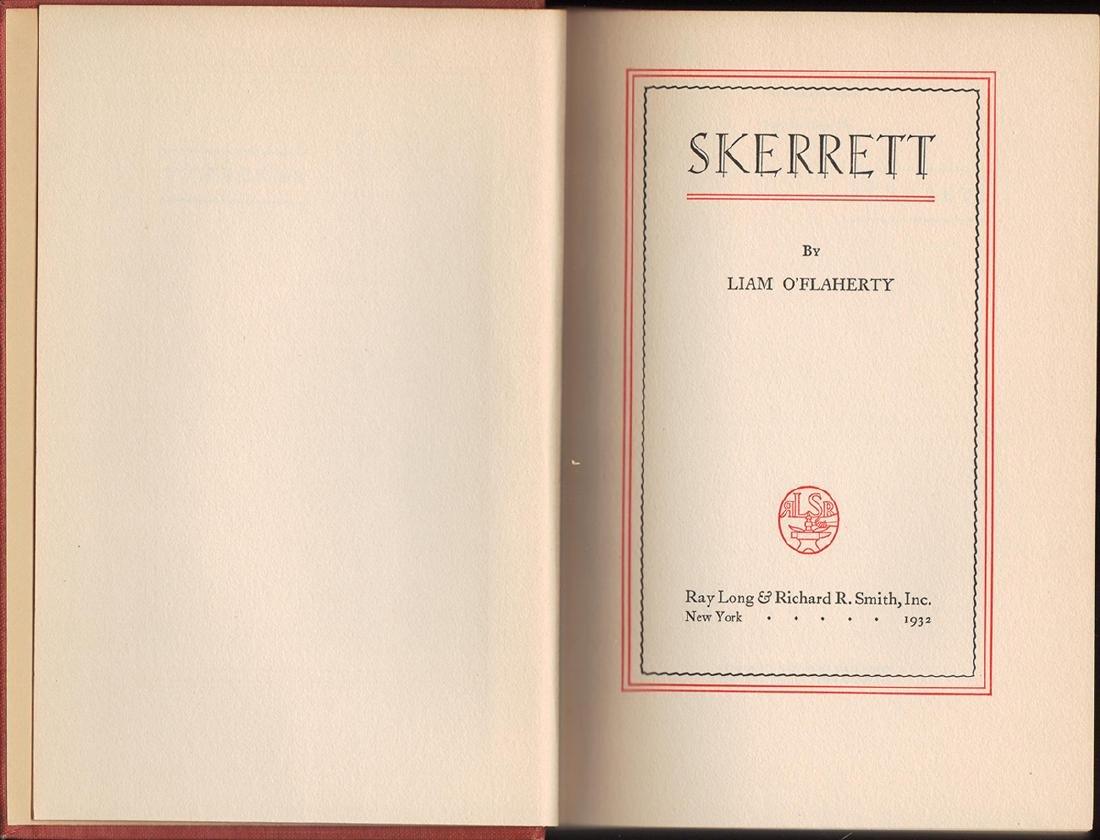 Skerrett, Liam O'Flaherty, First Edition - 2
