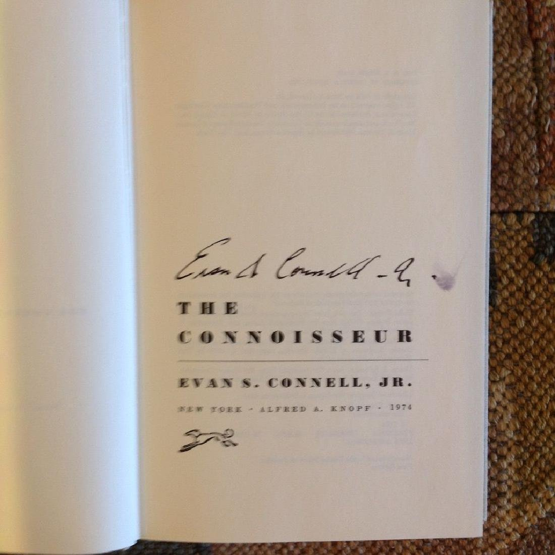The Connoisseur by Evan S. Connell Autographed - 5