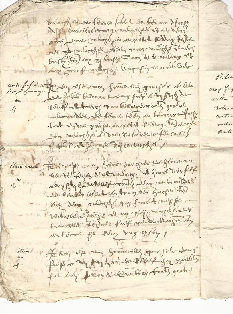 1620 French Manuscript Legal Document Seven Pages - 2