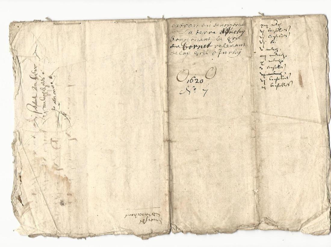 1620 French Manuscript Legal Document Seven Pages - 3