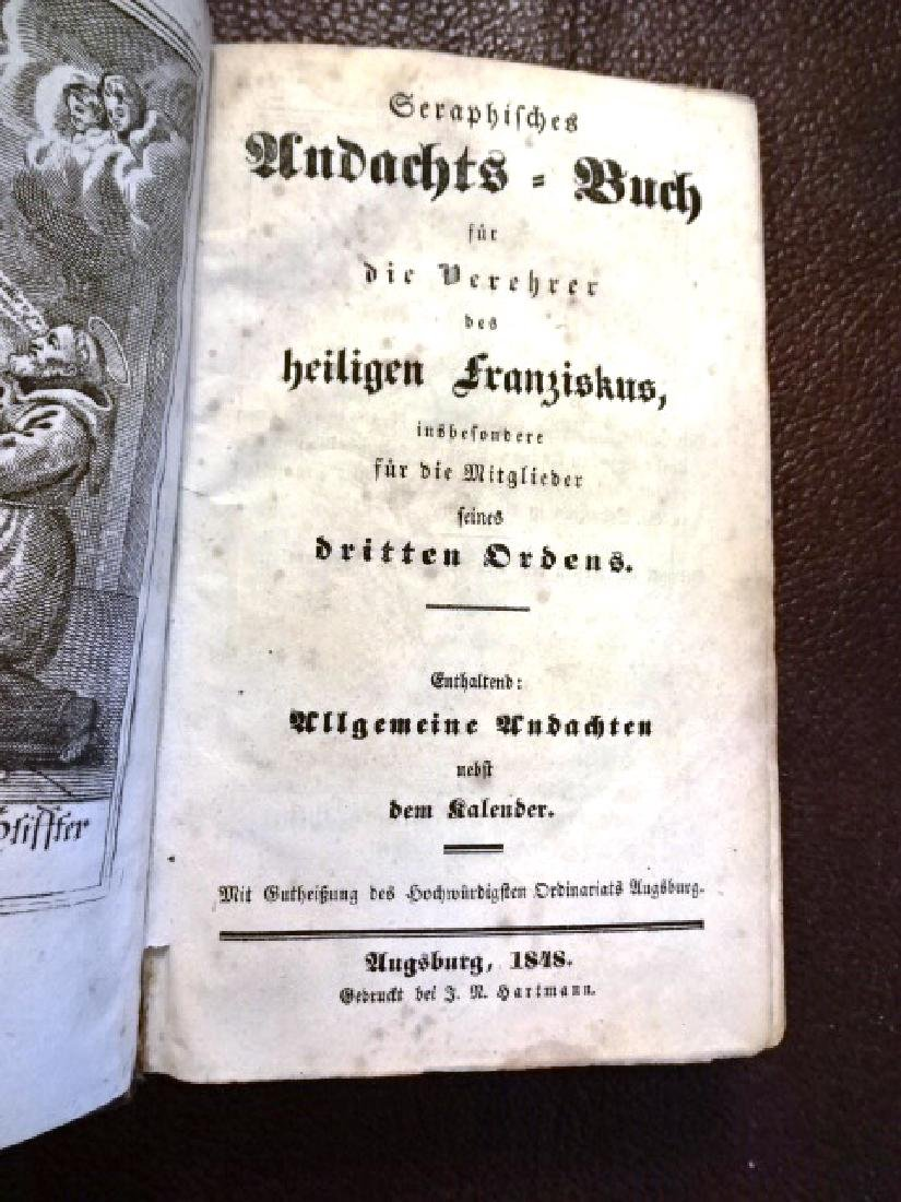 1848 Illustrated German Prayer Book, Three Works - 2