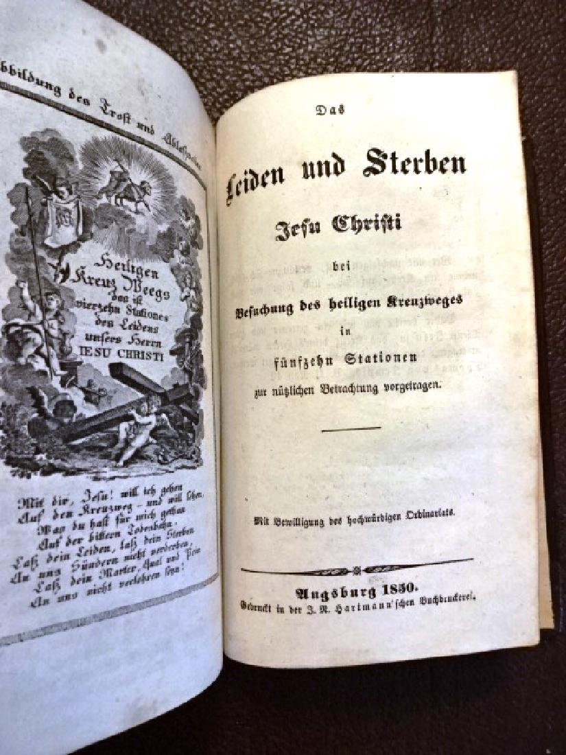 1848 Illustrated German Prayer Book, Three Works - 5
