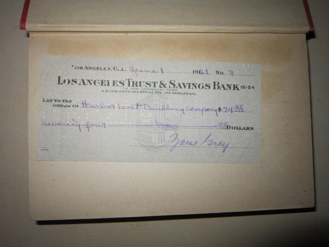 Zane Grey Wanderer of Wasteland with Autographed Check - 4
