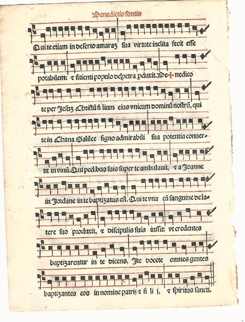 1567 Catholic Hymnal Leaf Music - 2