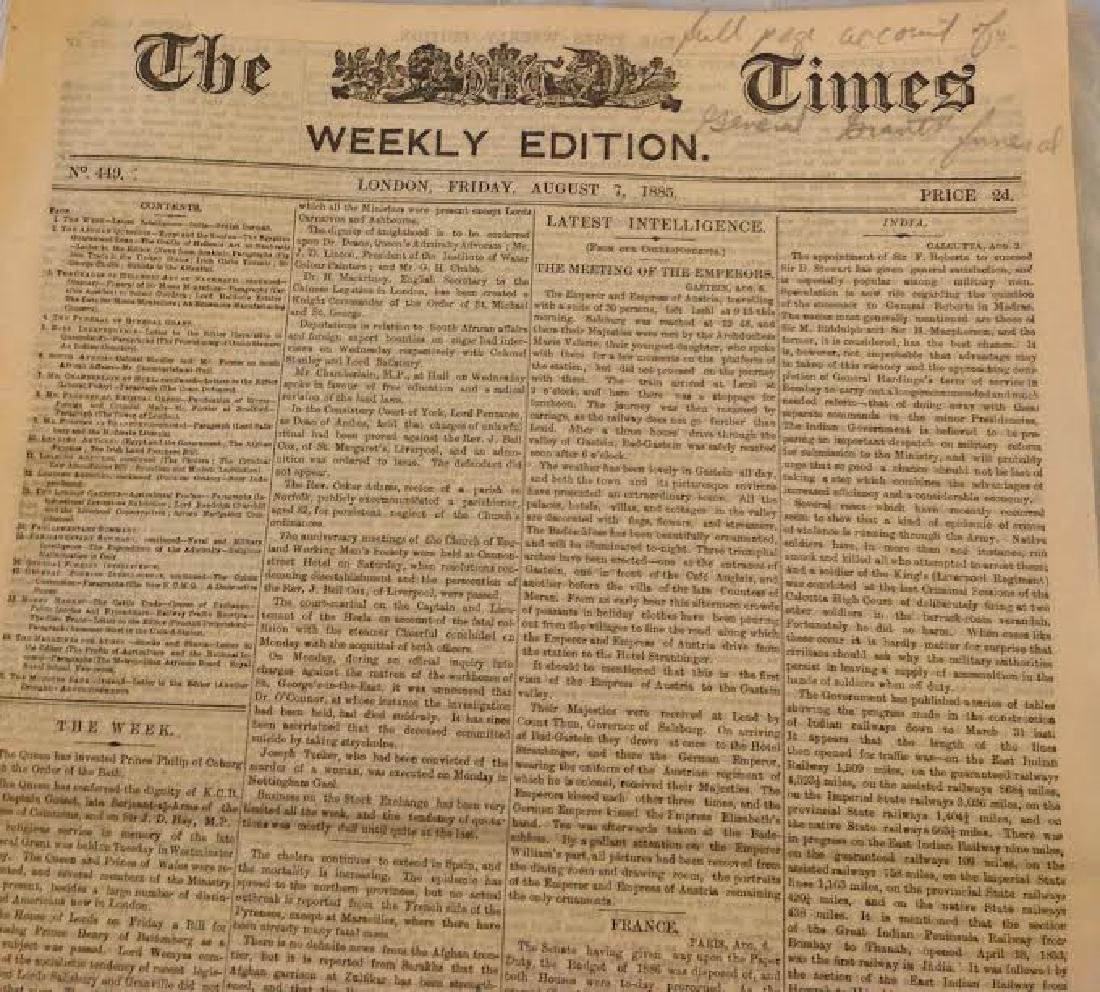 Times Newspaper Weekly Edition: General Grant's Funeral - 2