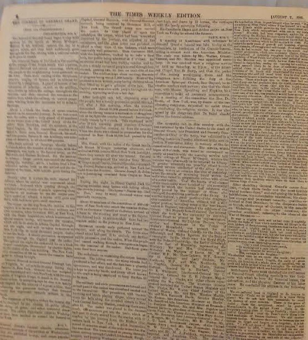 Times Newspaper Weekly Edition: General Grant's Funeral - 5