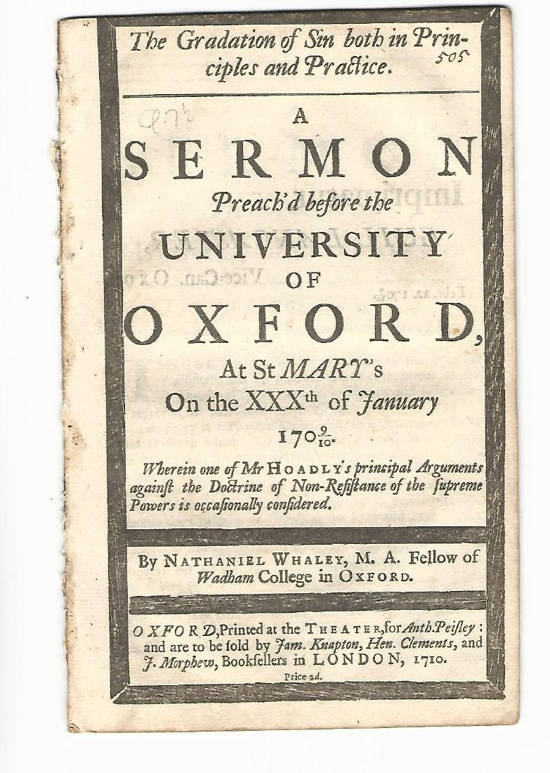 1710 Pamphlet Gradation of Sin in Principles & Practice