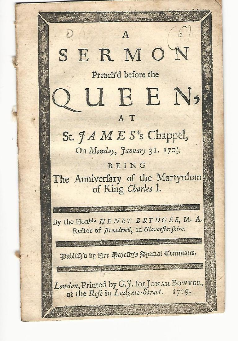 1709 A Sermon at St. James's Chappel, 1708