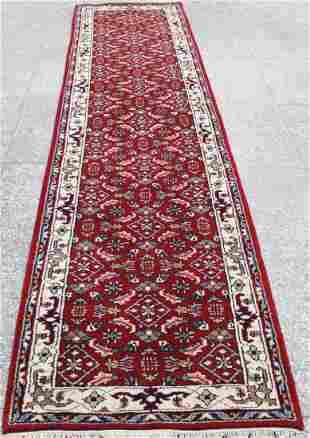 Indo Persian Kashan Runner Rug 2.6x11.5