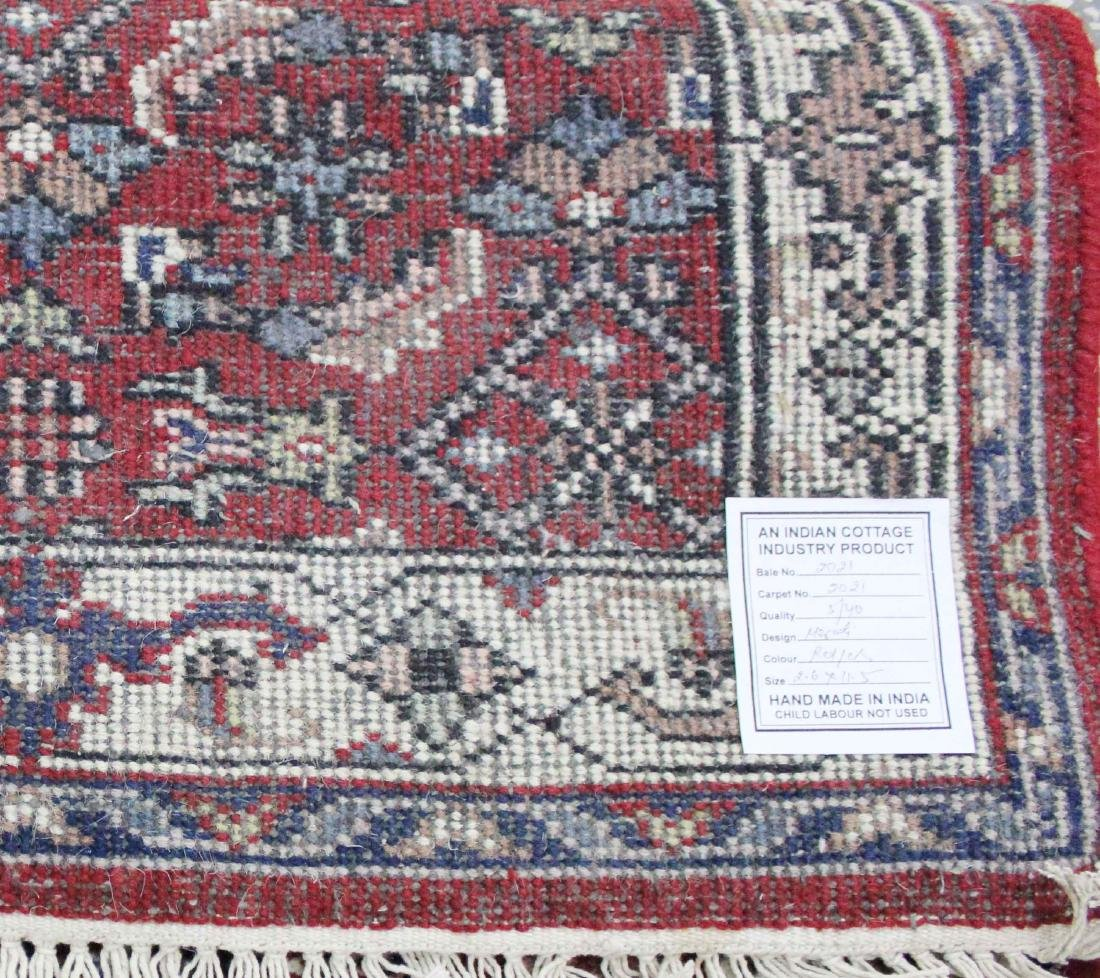 Indo Persian Kashan Runner Rug 2.6x11.5 - 4