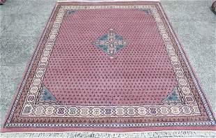 Indo Persian Sarouk Area Rug 6.4x8