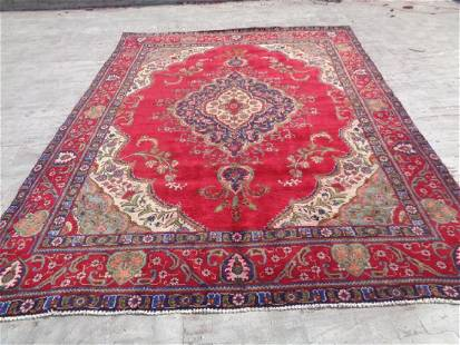 Persian Tabriz Rug 10.7x7.11