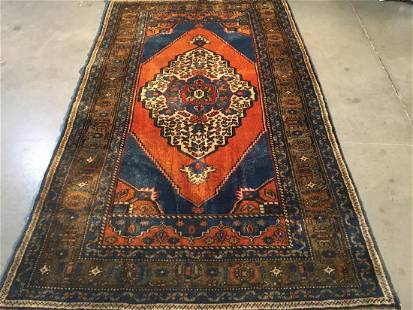 """Persian Hariz Hand Knotted Wool Rug 3'8""""x6'3"""""""