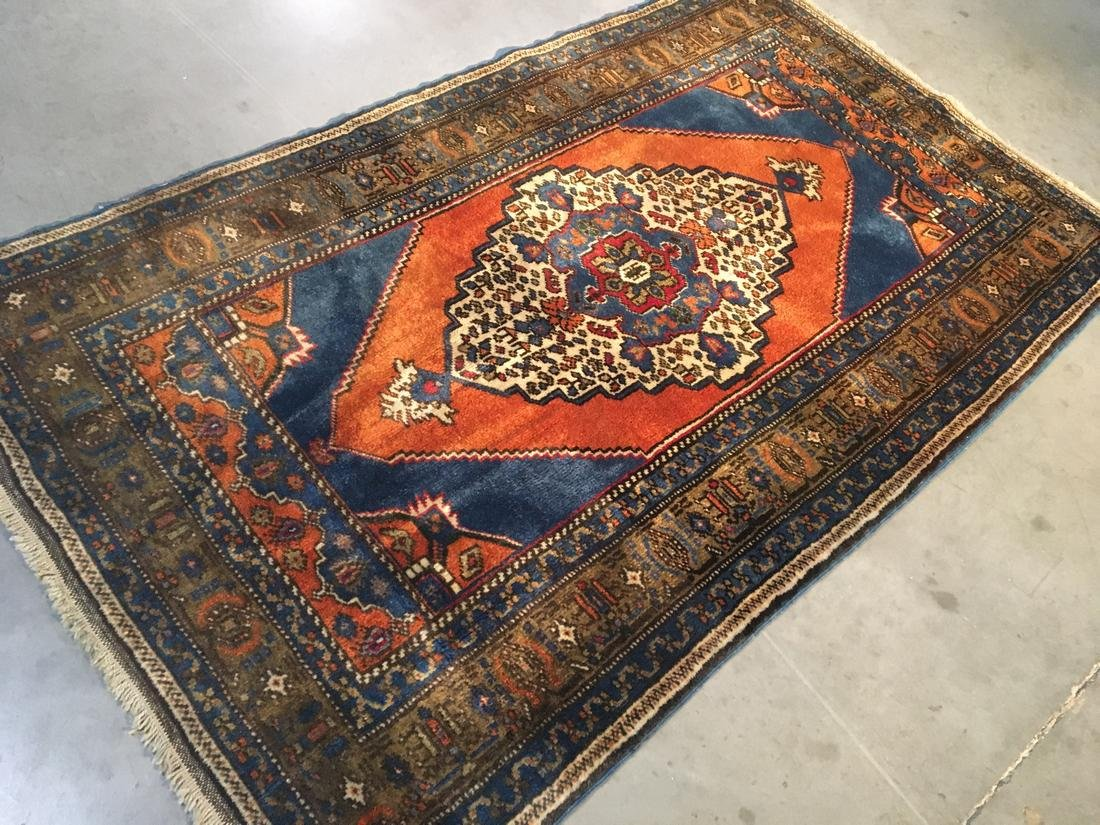 """Persian Hariz Hand Knotted Wool Rug 3'8""""x6'3"""" - 2"""