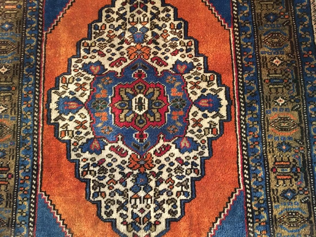 """Persian Hariz Hand Knotted Wool Rug 3'8""""x6'3"""" - 4"""