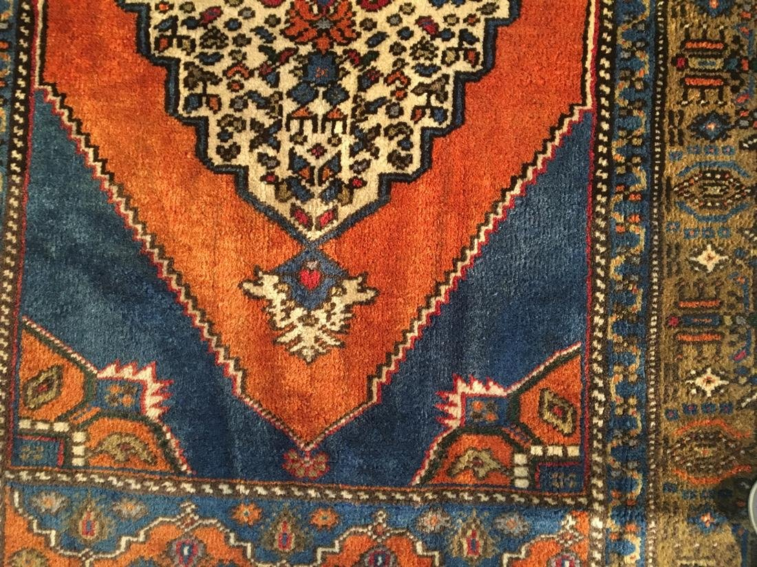 """Persian Hariz Hand Knotted Wool Rug 3'8""""x6'3"""" - 5"""