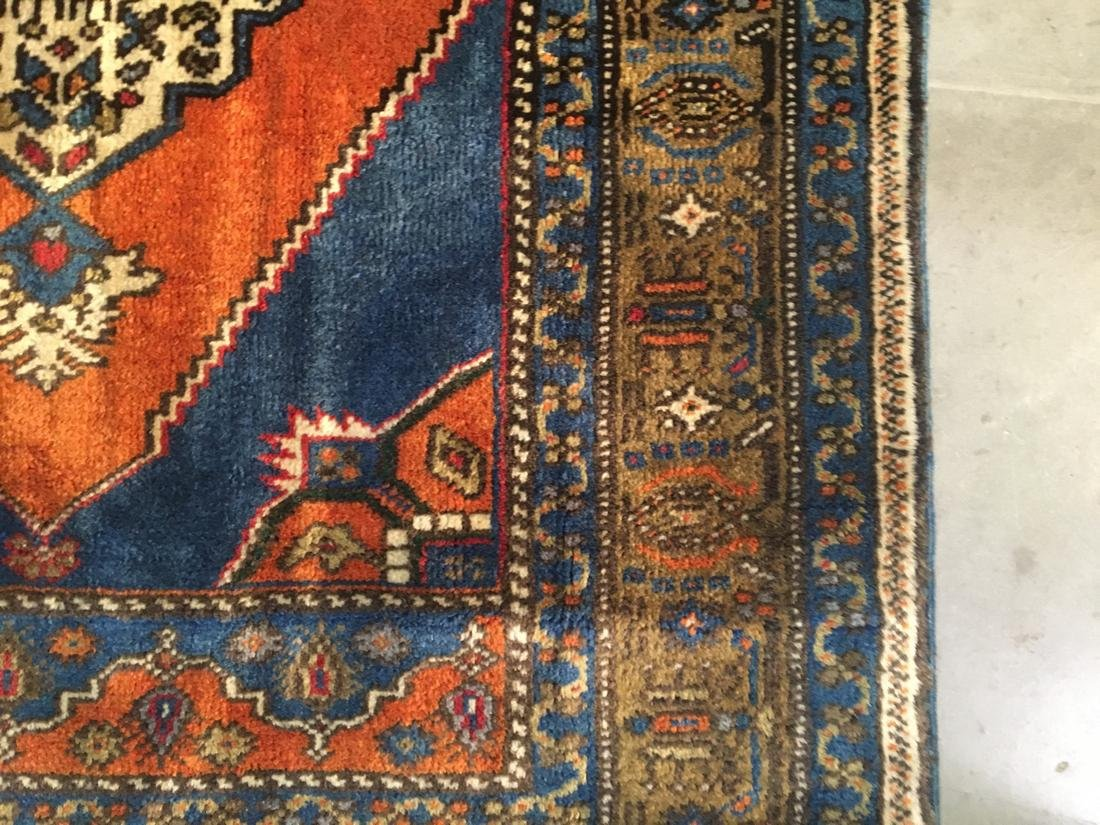 """Persian Hariz Hand Knotted Wool Rug 3'8""""x6'3"""" - 6"""