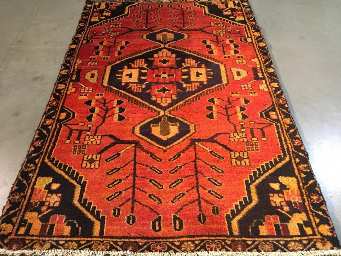 Persian Tabriz Hand Knotted Wool Rug 3'5x5'3