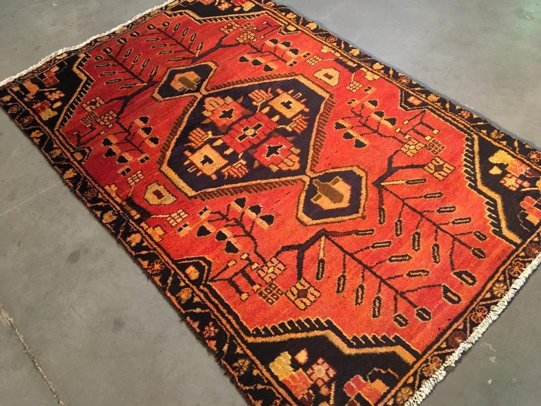 Persian Tabriz Hand Knotted Wool Rug 3'5x5'3 - 2