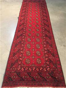 """BokharaHand Knotted Wool Rug 2'8""""x9'5"""""""