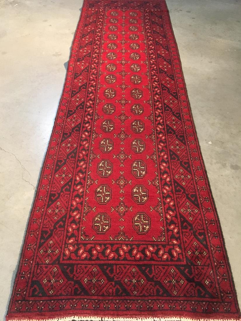 "BokharaHand Knotted Wool Rug 2'8""x9'5"""