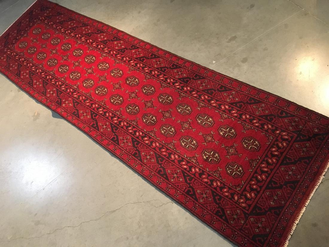 "BokharaHand Knotted Wool Rug 2'8""x9'5"" - 2"