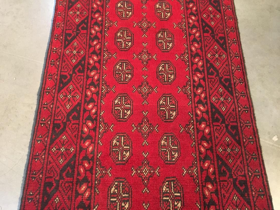 "BokharaHand Knotted Wool Rug 2'8""x9'5"" - 3"