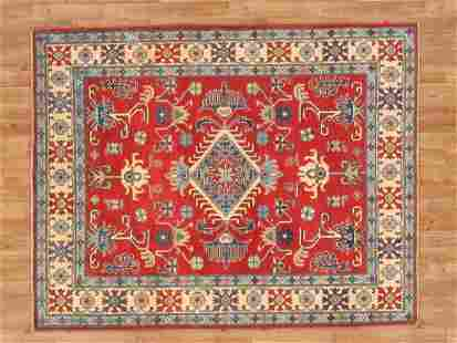 Kazak Area Rug Handmade 5x7