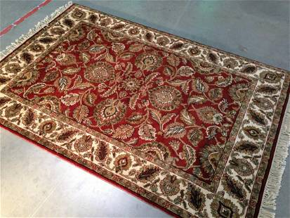 Decorative Indo Bujar Hand Knotted Wool Rug 4.2X6.2