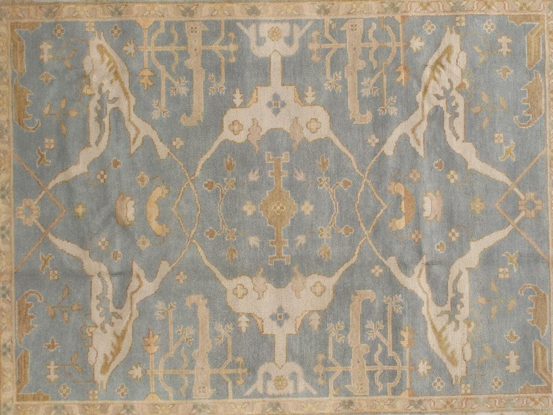 Handknotted Wool Oushak Rug 8x10 - 2