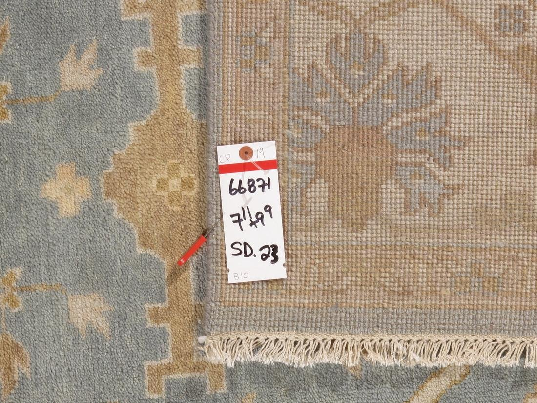 Handknotted Wool Oushak Rug 8x10 - 5
