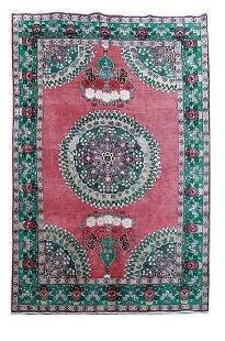 Hand Knotted Persian Tabriz Khoy Woolen Rug 6x9