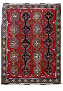 Handmade Persian Shiraz Khuzastan Wool Rug 7x9