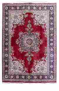 Persian Tabriz Oriental Rugs Hand Knotted Rug 7'x10'