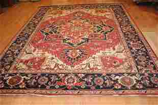 Handmade Wool Serapi Rug 9x12