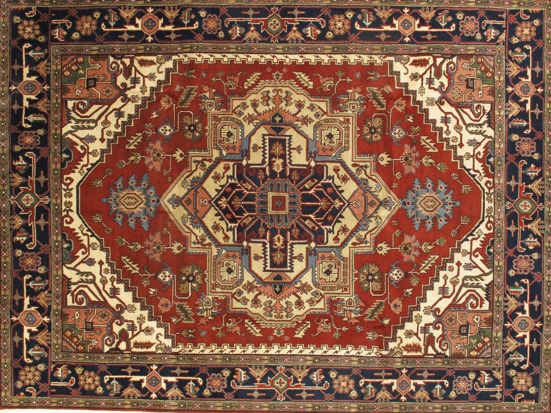 Persian Handmade Wool Serapi Rug 9x12