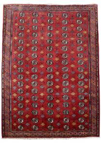 Turkoman Fine Decorative Rug Persian Wool Handmade 7x10