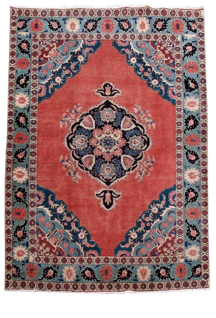 Tabriz Persian Carpet Hand Knotted 7x11