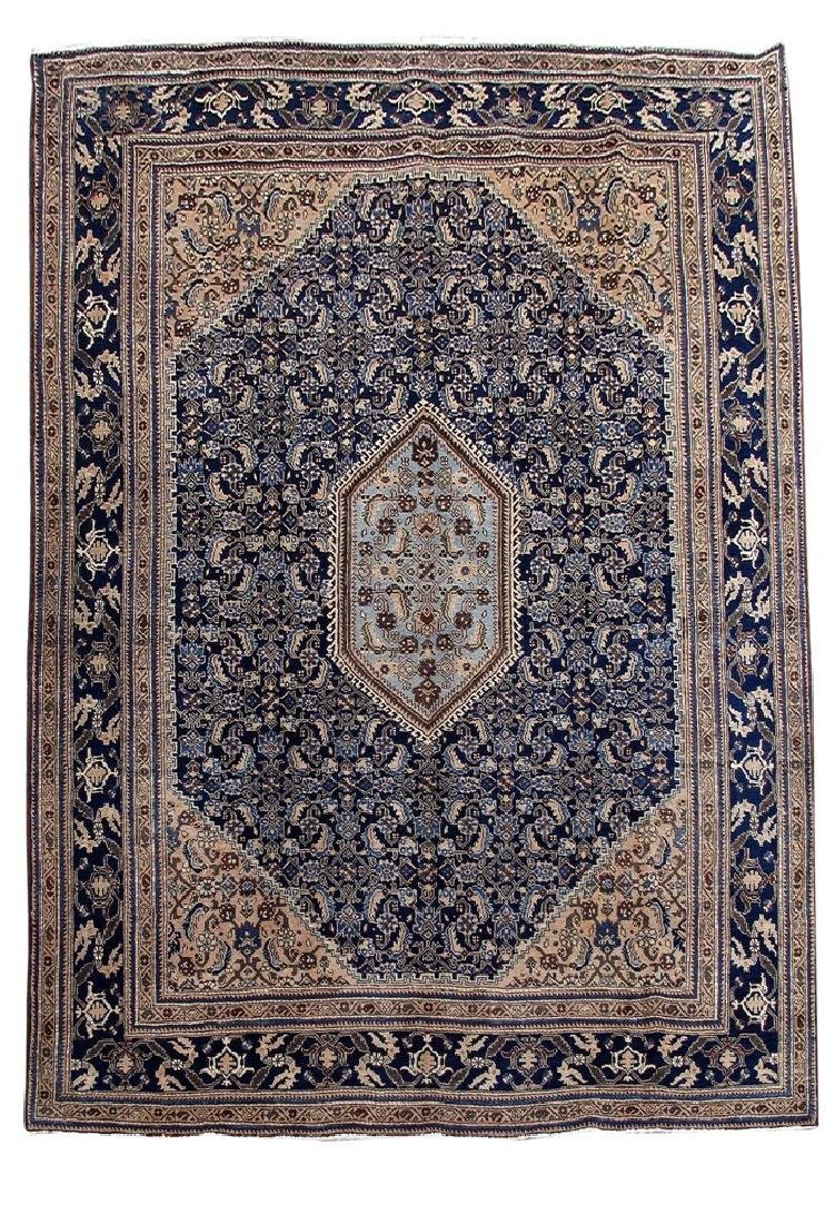 Wool Hand Knotted Persian Ardebil Rug 8x11