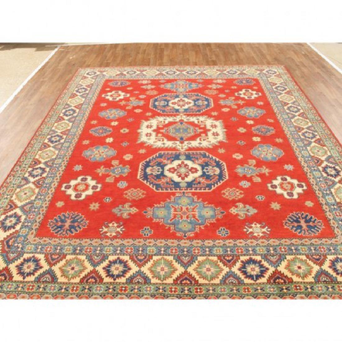 Hand Knotted Wool Kazak Rug 9x10 - 2