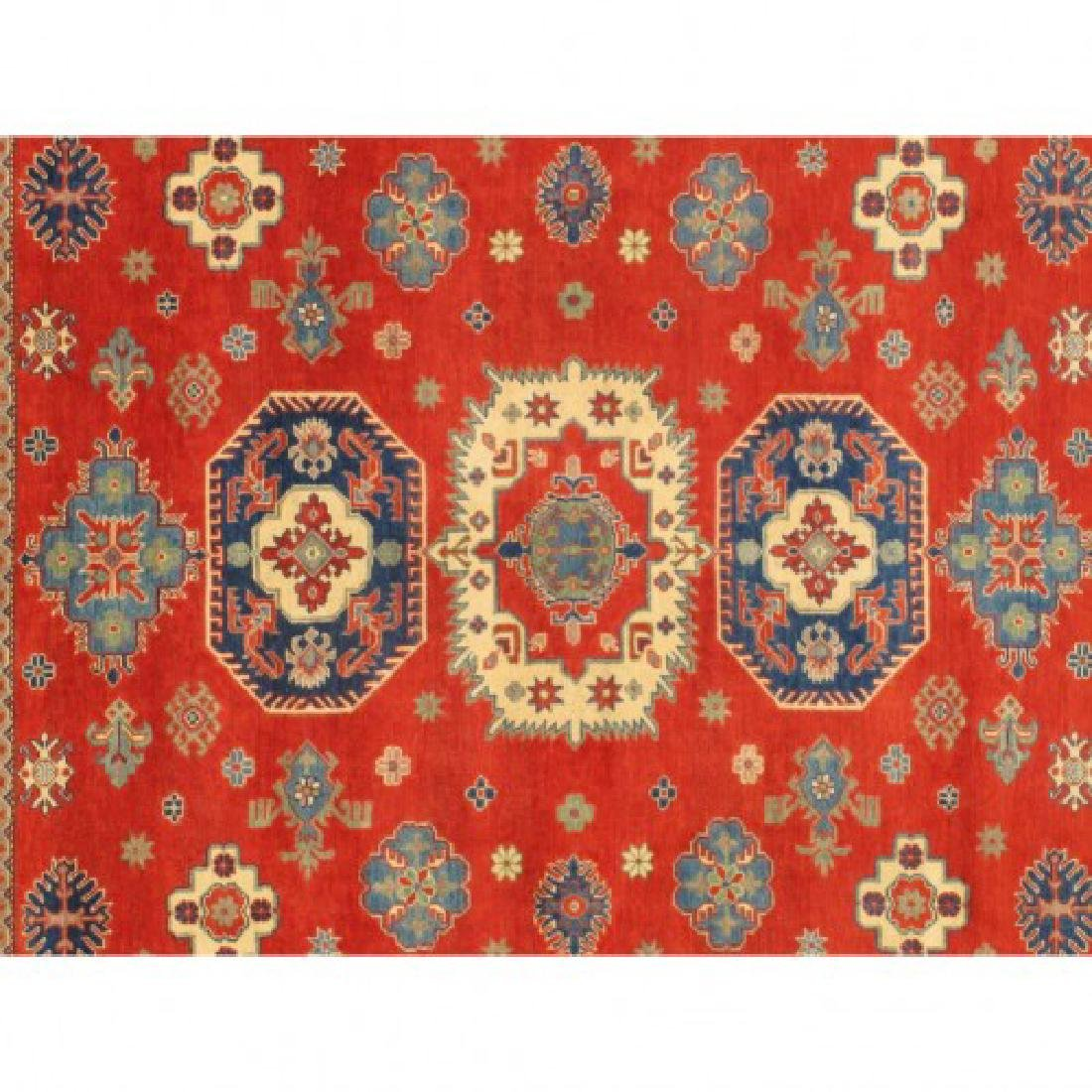 Hand Knotted Wool Kazak Rug 9x10 - 6
