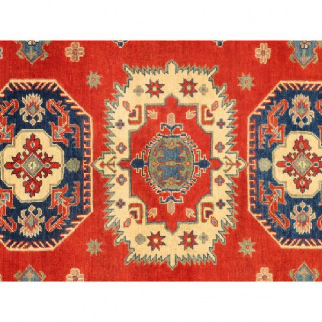 Hand Knotted Wool Kazak Rug 9x10 - 7