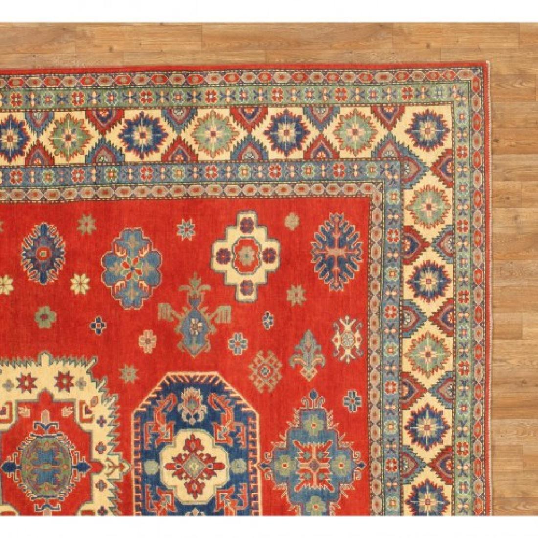 Hand Knotted Wool Kazak Rug 9x10 - 8