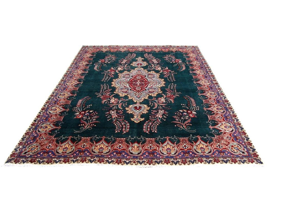 Tabriz Rug Persian Carpet Hand Knotted 9x12 - 2