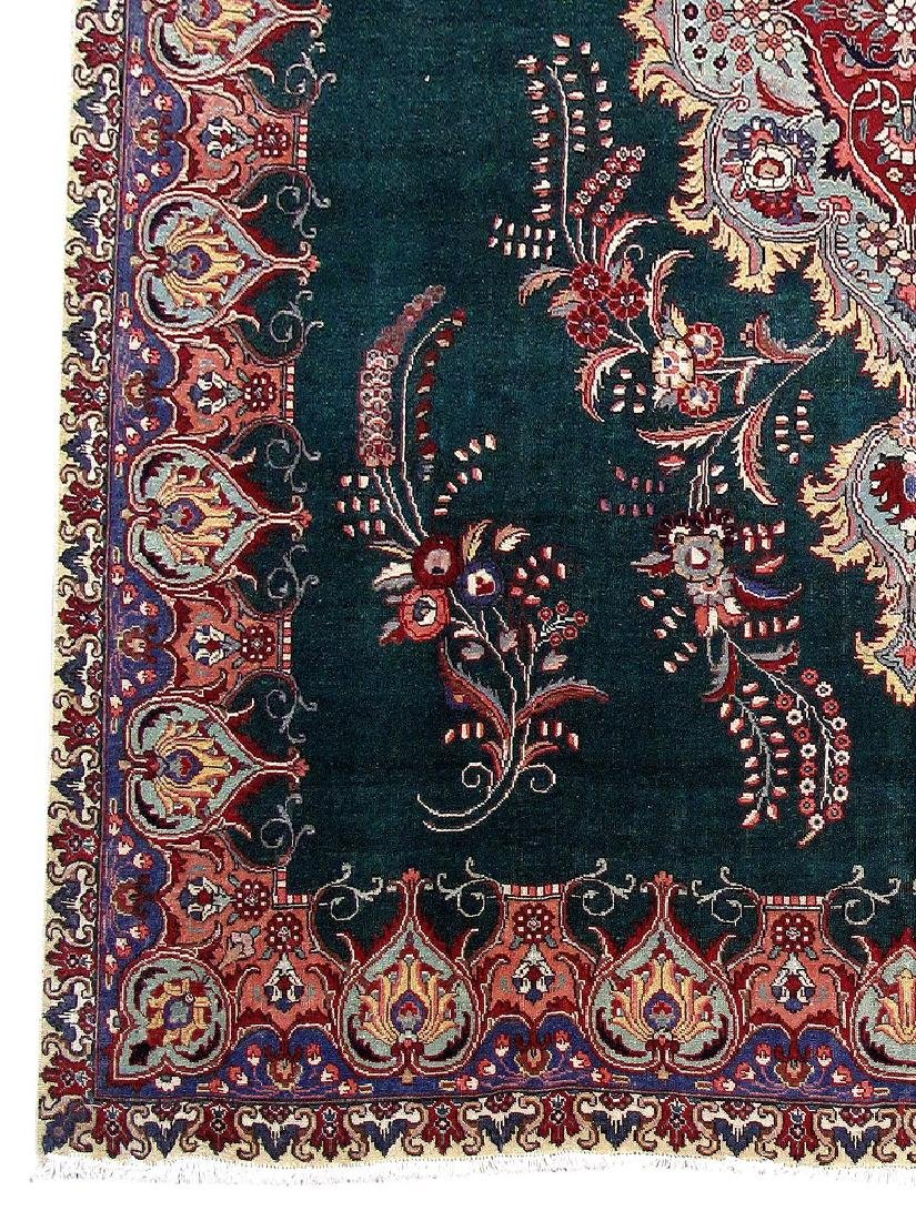 Tabriz Rug Persian Carpet Hand Knotted 9x12 - 3