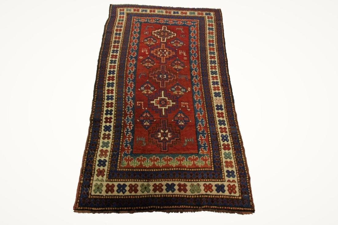 Antique Kazak Caucasian Rug 4x7