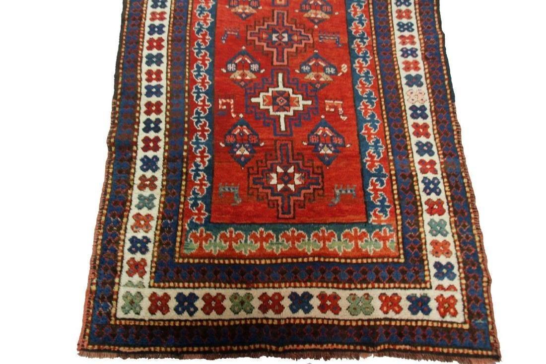 Antique Kazak Caucasian Rug 4x7 - 2