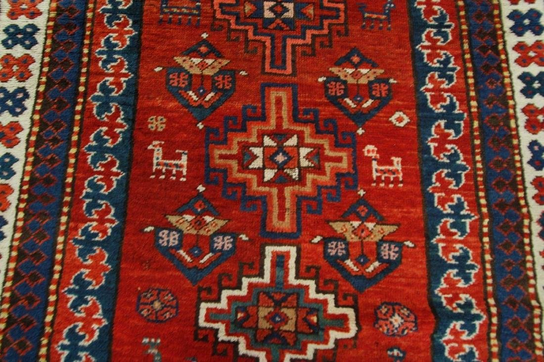 Antique Kazak Caucasian Rug 4x7 - 5